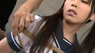 Rico Yamaguchi is a beautiful Asian teen in her school uniform