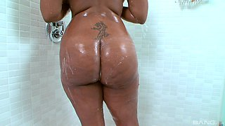 Sweet black babe Cherry Millennium makes a monster dick disappear