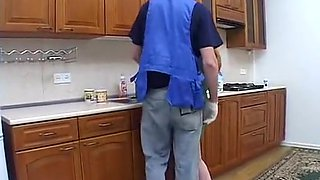 Horny Kitchen, Doggy Style xxx scene