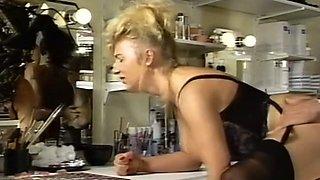 Magnificent German vintage ladies tasting cum after sex