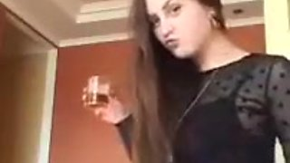 drunk teen teasing in her skirt on periscope
