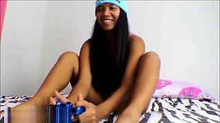 Heather Deep Thai Teen playing video games gets creampie