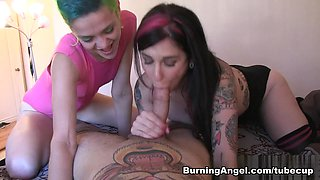 Incredible pornstars Joanna Angel, Small Hands in Horny Threesomes, Big Tits xxx movie
