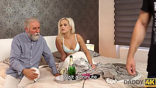 Surprise your girlfriend and she will fuck with your dad