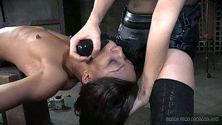 Hot dominatrix dominates Nikki Darling hard until she feels fucking miserable
