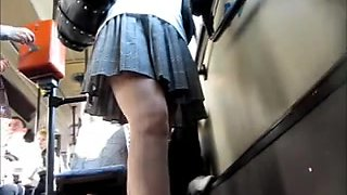 Perfect kinky big ass upskirt shot made in a public bus