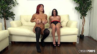 Sexy big implants on a pair of milfs feasting on wet pussy