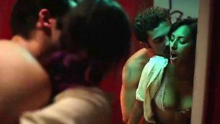 The sexiest sweaty public bathroom sex ever seen