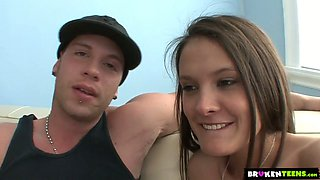 Just ordinary girlfriend Erin Stone jumps on stiff dick of her hip hop BF