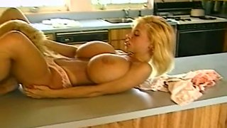 Spectacular and delicious white blonde babes in the kitchen