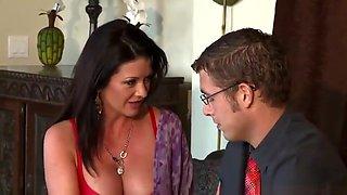 Hot mom porn video featuring Diamond Foxxx and Jordan Ash