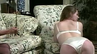 Naughty and hot blonde housemaid is very submissive for her master