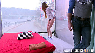 Hot Paris Devine Cheats on her Boyfriend while He is Outside