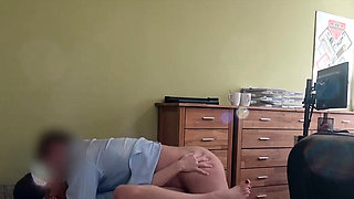 Exquisite young maid riding a big packing monster