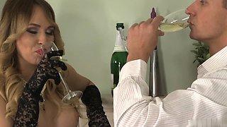 Aleska takes double penetration