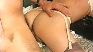Hot and lean German classic blonde milf boned from behind