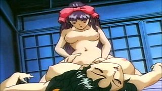 Big boobed anime slut gets rammed by a horny stud
