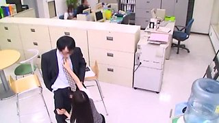 Best Japanese whore in Horny Secretary, Blowjob/Fera JAV clip