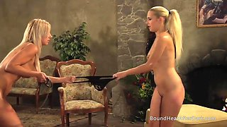 Mistress And Handmaiden: Slaves Fighting For Panties