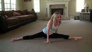 Flexible blond girl friend