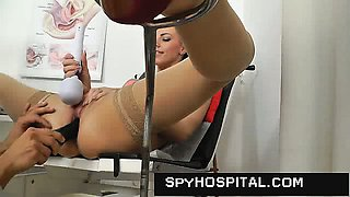 Naked female patient recorded with gyno spy camera