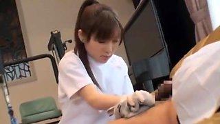 Nurse latex glove sex
