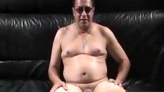 Chubby Mistress Spanking Sub