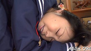 wild anal sex for cute asian schoolgirl feature clip 4