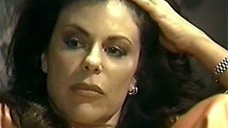 Magnificent and lascivious vintage brunette gets big facial cumshot at the end