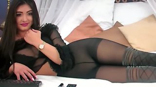 really...amazing young goddess in very spezial pantyhose action