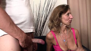 She watches her mom and boyfriend taboo sex
