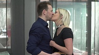 Incredibly brutal FFM threesome with such a cock hungry slut Sienna Day