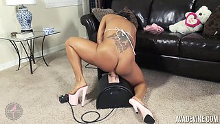 Ava Devine cannot resist riding her kinky fucking machine