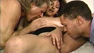 Mesmerizing and voracious brunette milf is ready for orgy