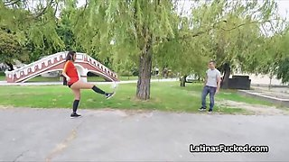 Assy latina soccer chick pleases dick for money