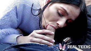 Real Teens College teen Violet Rain internal creampie