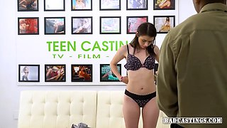 Petite 19yo Lucie Cline gets bound and slammed