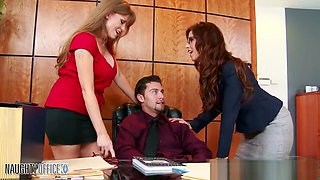 Falling victim to the office cougars