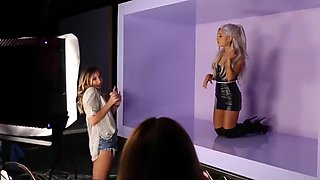 Ariana Grande filming ''Focus on Me'' video