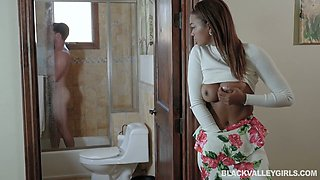 Fantastic ebony girlfriend Harley Dean gets her pussy licked well