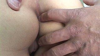 Horny doctor finger fucks tiny asshole of Japanese slut Nanami Komachi