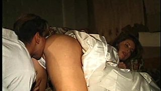 Bride having her asshole licked then smashed hardcore
