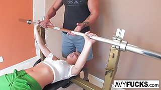 avy scott gets a fucking with her workout routine