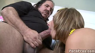 an old but fat cock for the slutty blonde natalia rossi