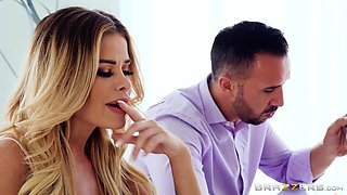 Alexis Monroe and Jessa Rhodes hook up with a chick and a horny man