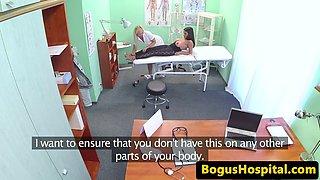 Curvy euro fingering lesbian nurse
